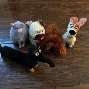 Disney Pixar The Secret Life of Pets Set of 5